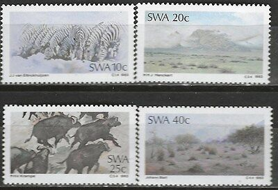 SOUTH WEST AFRICA 1983 Sc#512-5 PAINTINGS COMPLETE MNH SET 1988