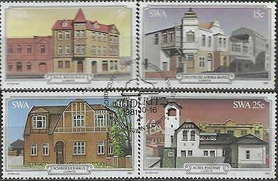 SOUTH WEST AFRICA 1981 Sc#479-82 HERITAGE BUILDINGS COMPLETE USED SET 1999