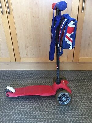 mini micro scooter Red White And Blue With Bag