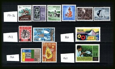 CEYLON 1951-67 : MNH** selection as per scan.