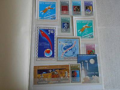 Albanien Marken Blocks MNH postfrisch Space