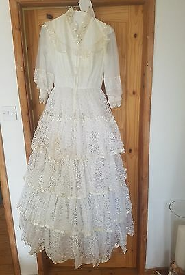Wedding dress 1980s vintage retro with receipt