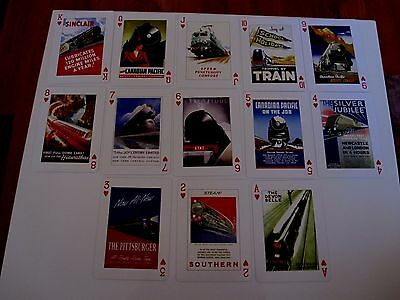 Highly Collectable Deck Piatnik Playing Cards Vintage Railway Art Posters