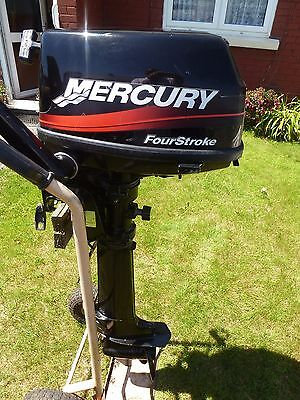 mercury 4 stroke outboard motor engine aux dinghy tender boat fishing day 2003