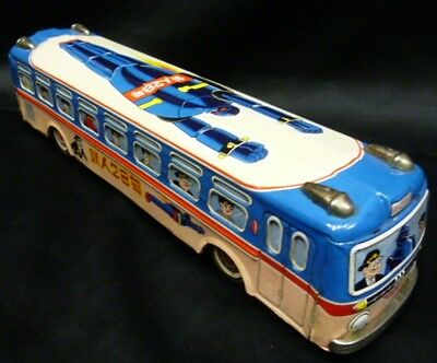 Asakusa Toy Ironman No. 28 Bus friction tin toy RARE vintage MADE in JAPAN F/S