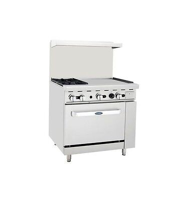 """New Heavy 36"""" Range  2 Burners 24"""" Griddle 1 Full Oven Stove  Natural Gas Only"""
