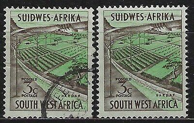 SOUTH WEST AFRICA 1963 Sc#294 OPENING OF HARDAP DAM COMPLETE MNH & USED SET 2651