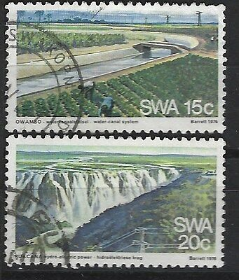SOUTH WEST AFRICA 1976 Sc#396-7 WATER SUPPLY COMPLETE USED SET 2653