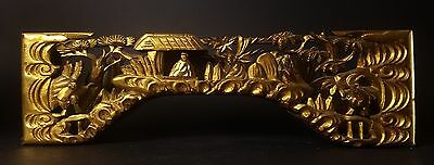 Vintage Japanese Wooden Gilded Ranma for a Butsudan
