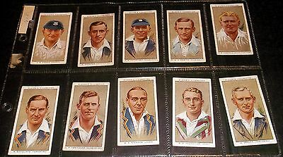 10 Wills Cigarette Cards Cricketers 1934