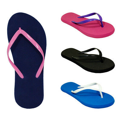 Lot of 72 Pairs Wholesale Women's Solid Color Flip Flops Sandals Flip Flop New