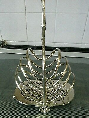 Antique Victorian Silver Plate 'Martin Hall & Co' Toast Rack