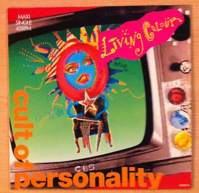 "LIVING COLOUR "" Cult Of Personality"" - Vinyl maxi 12"" - EPC 653021 6 -1988 Spain"