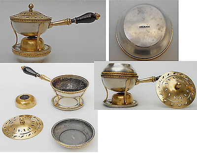 Vintage Guerlain Museum Quality Solid Mixed Metal Collectible Brûle Parfums 1890
