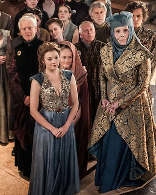"10"" X 8"" Photo Natalie Dormer Diana Rigg Finn Jones Game Of Thrones House Tyrell"