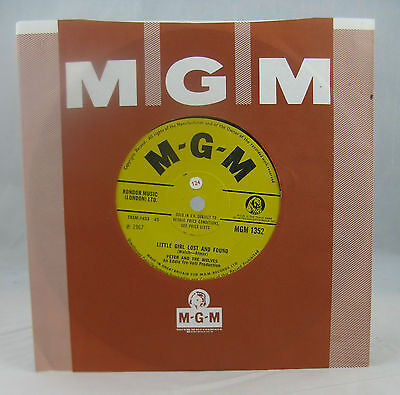 """Peter And The Wolves - """"little Girl Lost And Found/is Me"""" - Uk Mgm Rare Psych-Nm"""