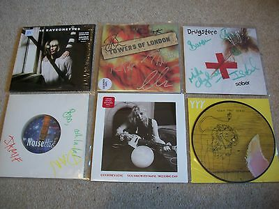 """lot of 6 classic alternative rock 7""""s.....signed / colours / P/DISC."""
