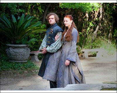 "Finn Jones Sophie Turner 10"" X 8"" Photo Loras Tyrell Sansa Stark Game Of Thrones"