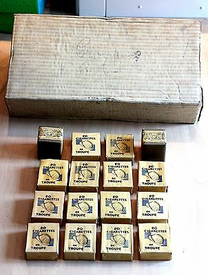 RARE LOT Paquets 20 Cigarettes et TABAC troupe ration WWII WW2 french tobacco