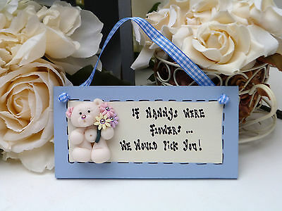 "A103 Ready to ship pretty ""If Nanny's were .."" Birthday, Christmas Gift Plaque"