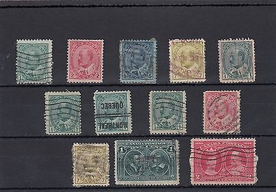 Canada.12 -- E7 1903/8  Used Stamps On Stockcard