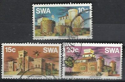South West Africa 1976 Castles Complete Used Set 2904
