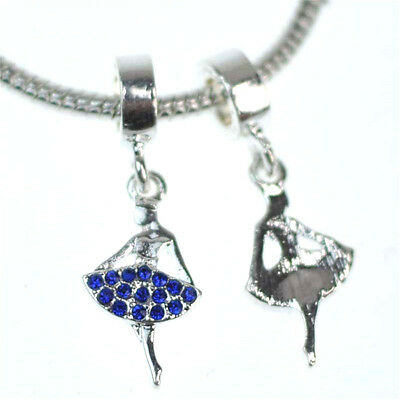 European charm handmade bead DIY Fit 925 Silver Necklace Bracelet Jewelry #14
