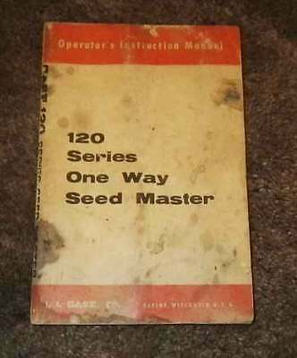 Case 120 series One Way. Operation & maint manual.