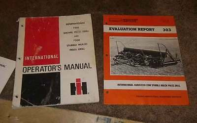 IH International 7100 drill 7200 drill Ops Manual. and evaluation report