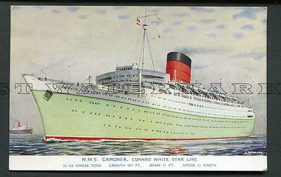 "1930S-50S Col Pc Cunard White Star Liner ""caronia"""