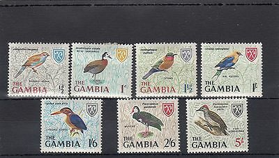 Gambia. 7 -- Lightly Mm Birds On Stockcard.includes 2/6.5/-.