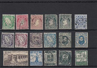Ireland. 17 --1929/36 Used Stamps On Stockcard