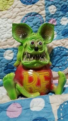 Ed Roth Rat fink Pottery Figure Super RARE doll Green monster Hot Rod