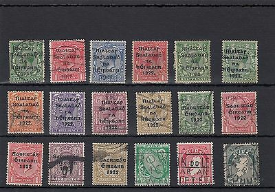 Ireland. 18 --1922/29 Used Stamps On Stockcard
