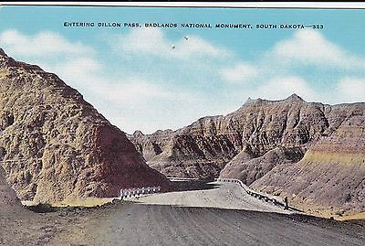 Badlands National Monument South Dakota Highway 240 Entering Dillon Pass Linen