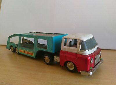 Red China Tintoy - Car Carrier Transporter- 60er Jahre