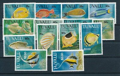 [89121] Tuvalu Fishes good set Very Fine MNH stamps