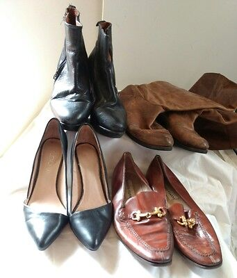 Job lot x4 Pairs of Shoes Boots Heels UK Size 5-6