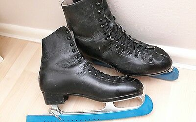 Ice Skates, Mens, Black, Size 10, Vintage