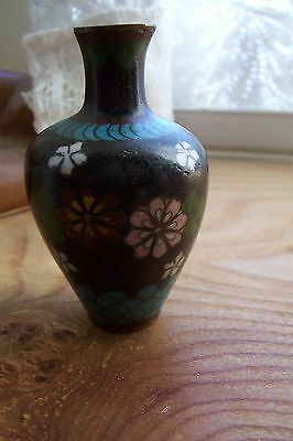 Antique miniature cloisonné vase, excellent condition