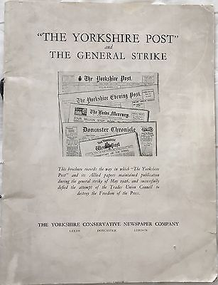 Yorkshire Post and The General Strike and 2 other items
