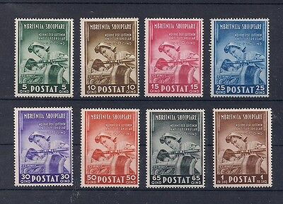 Albania Italy Italia 1943 Italian Occupation B9-16 Nurse Child 330-337 MNH
