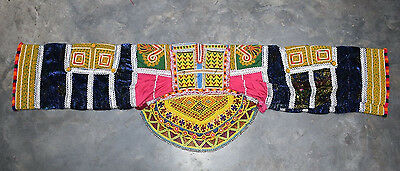 Kuchi Afghan Nomad Banjara Traditional Tribal Boho Handmade old Unique Dress TOP