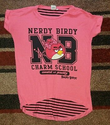 girls pink angry bird t-shirt age 11-12 years