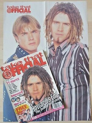 TAKE THAT - OFFICIAL FAN CLUB MAGAZINE 16 - incls GIANT POSTER - GARY BARLOW
