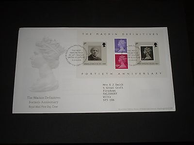 """2007 GB """"MACHIN DEFINITIVES"""" M/Sheet First Day Cover TALLENTS HOUSE Cancels #2"""