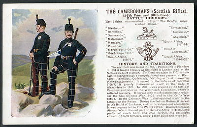 THE CAMERONIANS (Scottish Rifles). History&Traditions. Changes to list edn.1911