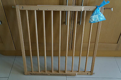 Babydan Baby Child Stair Safety Gate Pale Wood Extendable Adjustable All Fixings