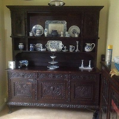 Unique 17th /18th ? century hand carved dresser