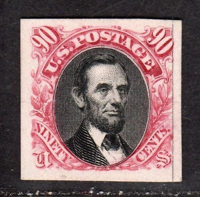 US 1869 SC #122P4  90C Lincoln XF Card Proof. Only a couple thousand exist.
